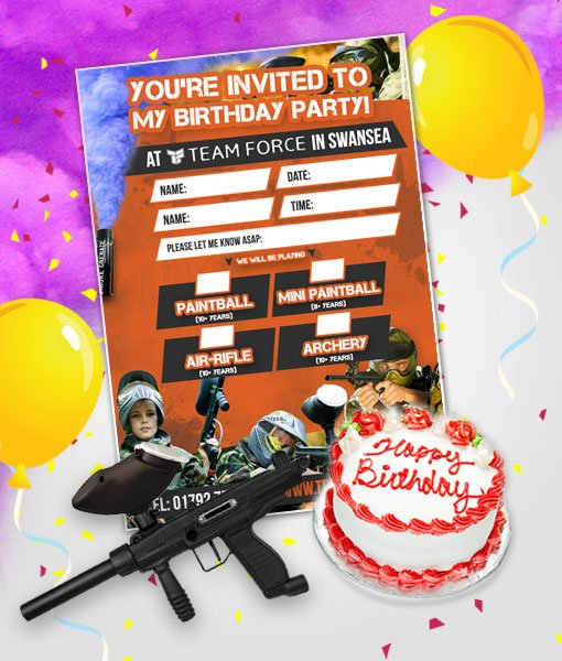 Junior Paintball Birthday Package (10 Players)