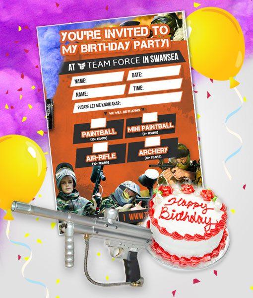 Fabulous Paintball Birthday Package 10 Players Teamforce Paintball In Birthday Cards Printable Giouspongecafe Filternl